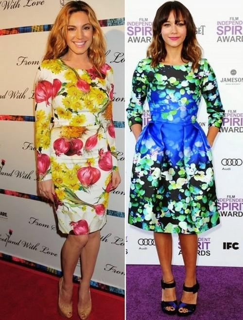 Bright Printed Dress Fashion Trend