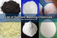 List of Garment Washing Chemicals and Their Functions