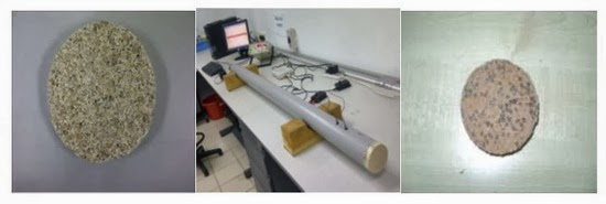 Experimental setup and sample specimens