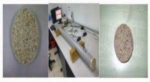 Experimental setup and sample for acoustic absorption