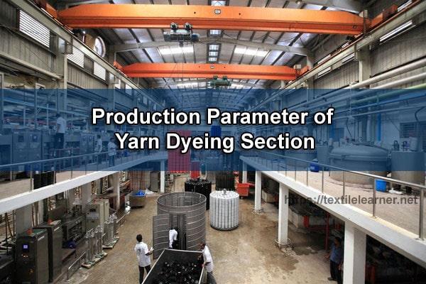 Yarn dyeing section