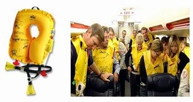 Life jacket in aircraft