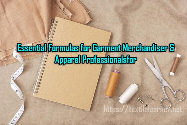formulas for garment merchandiser