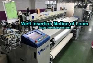 Weft Insertion Motion of Loom