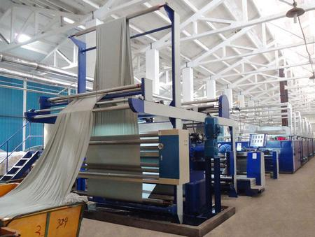 Physical means of textile finishing