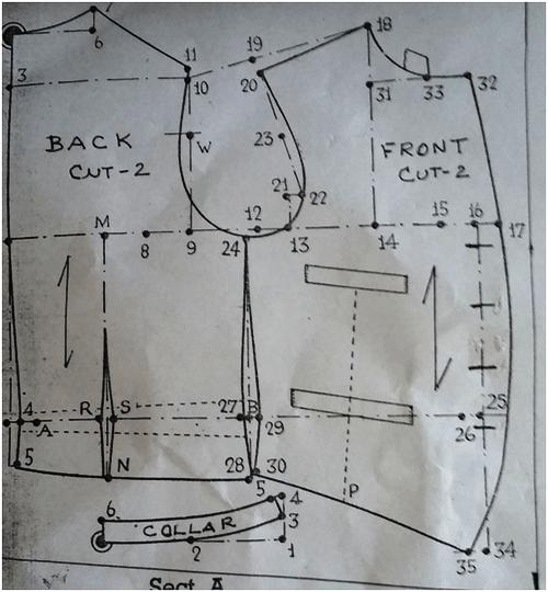 drafting mens waistcoat