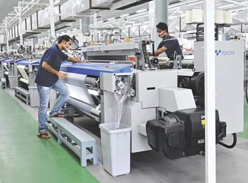 productivity improve in weaving mill