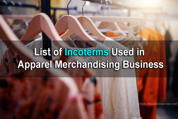 incoterms used in merchandising