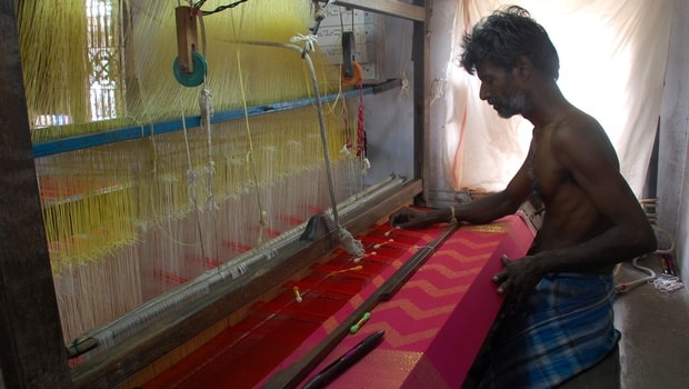 Kanchipuram silk saree making