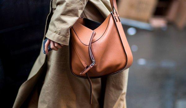fashionable bag of vegan lether