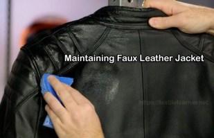 Maintaining Faux Leather Jacket