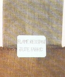 Jute fire proof fabric