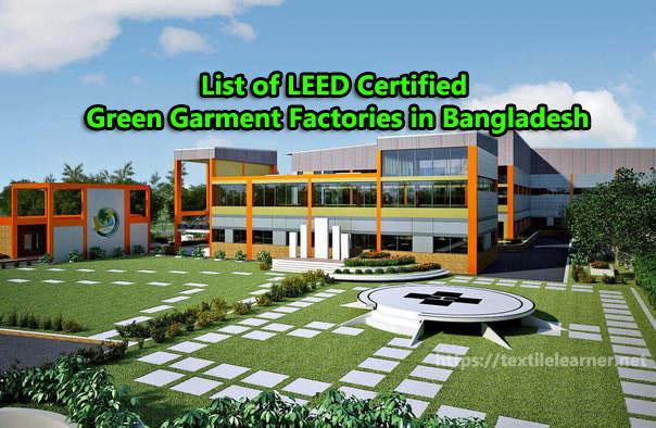 list of Green Garment Factories in Bangladesh