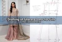 Drafting Process of Gharara Dress for Girls