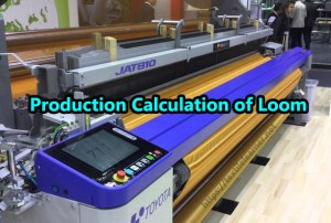production calculation of loom