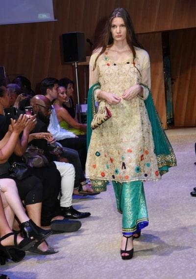salwar kameez in fashion show