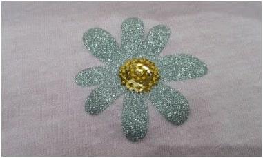 Glitter Printed Petals