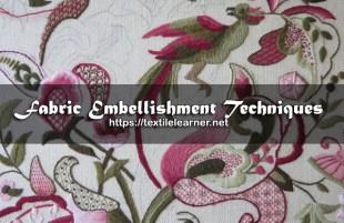 Fabric Embellishment Techniques