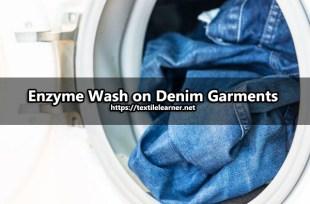 enzyme wash on denim garments