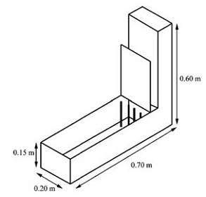 Typical dimensions for L-box