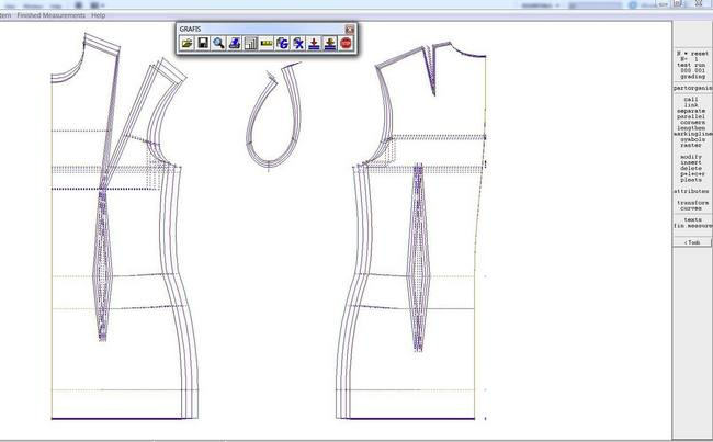 CAD pattern with graded size nest