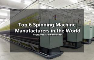 spinning machine manufacturers