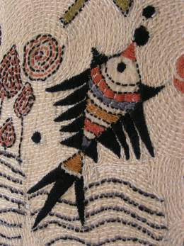 KANTHA FISH EMBROIDERY