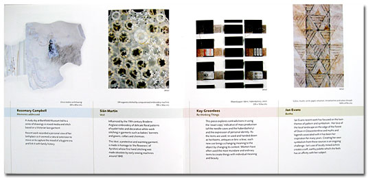 double page spread from catalogue