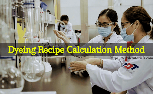 Dyeing recipe calculation method