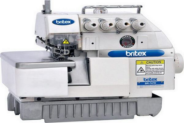 Overlock sewing machine used in apparel sector