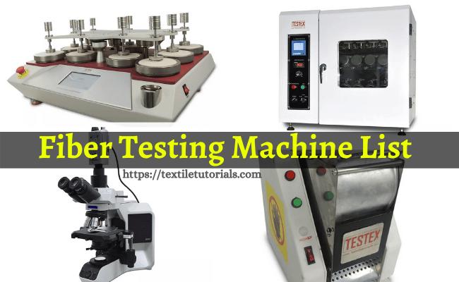 Fiber testing machine list