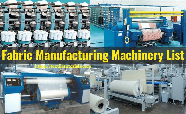 Weaving machine list