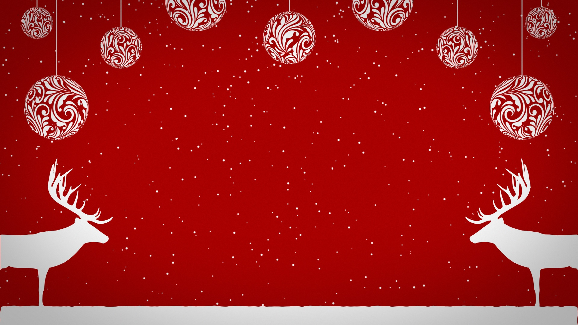 Falling Snow Wallpaper Note 3 Christmas Reindeer And Baubles Personalised Animations