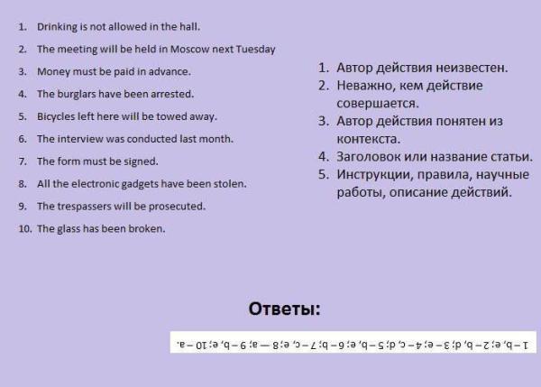 Active Voice, Passive Voice: правила, примеры. Активный и пассивный залог в английском языке