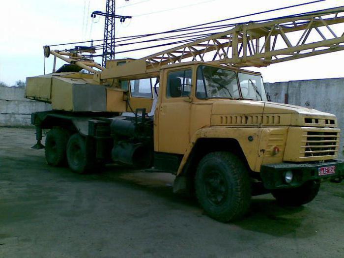 Автокран на базе КрАЗ-250