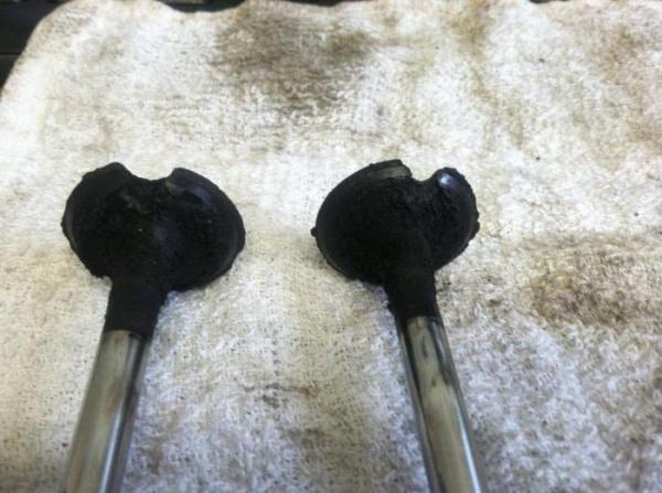 Признаки прогоревших клапанов. Низкая компрессия в цилиндре. Замена клапанов