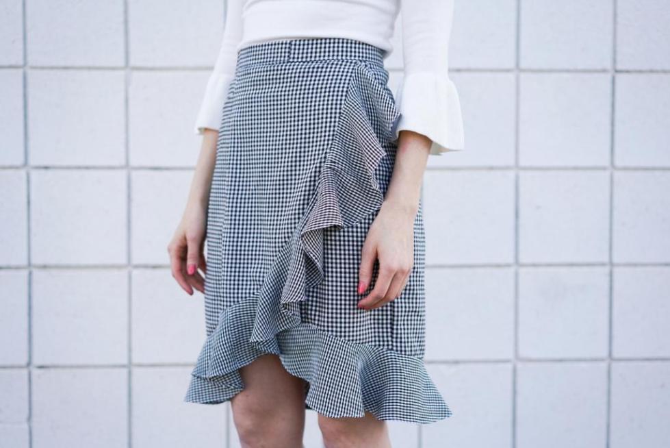 Вариант клетчатой юбки