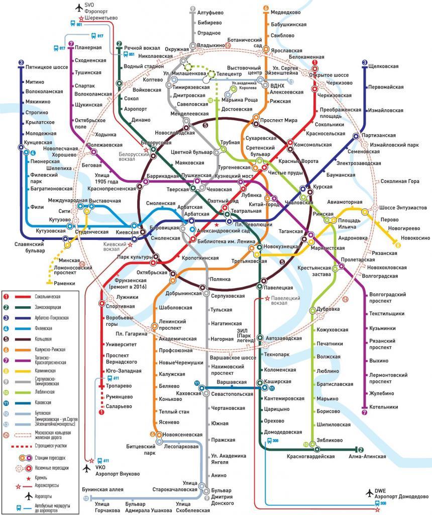 Московское метро сегодня