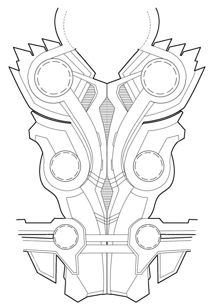 схема нагрудника Тора
