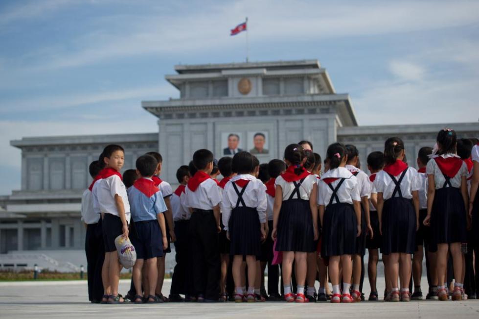 Школьники Северной Кореи