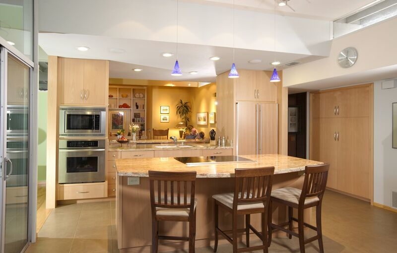 Освещение потолка в кухне