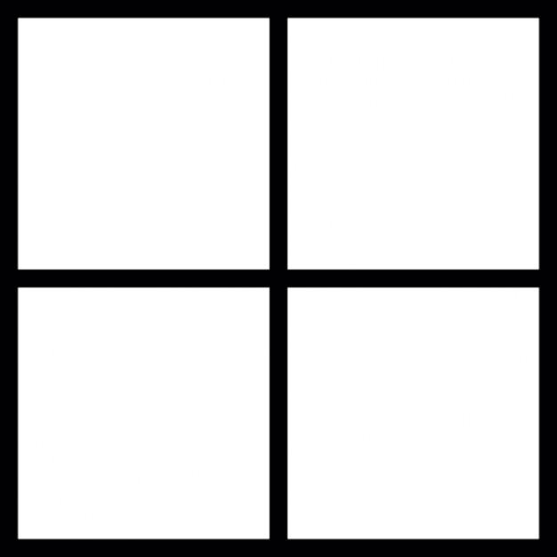 Крест, вписанный в квадрат