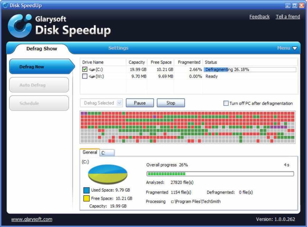 Программа Diskk Speedup