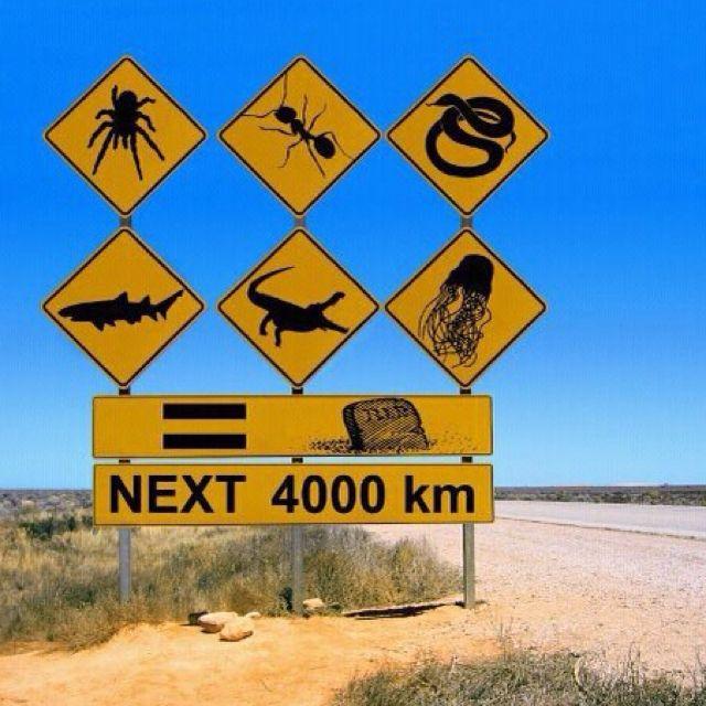 Дорожные знаки в Австралии