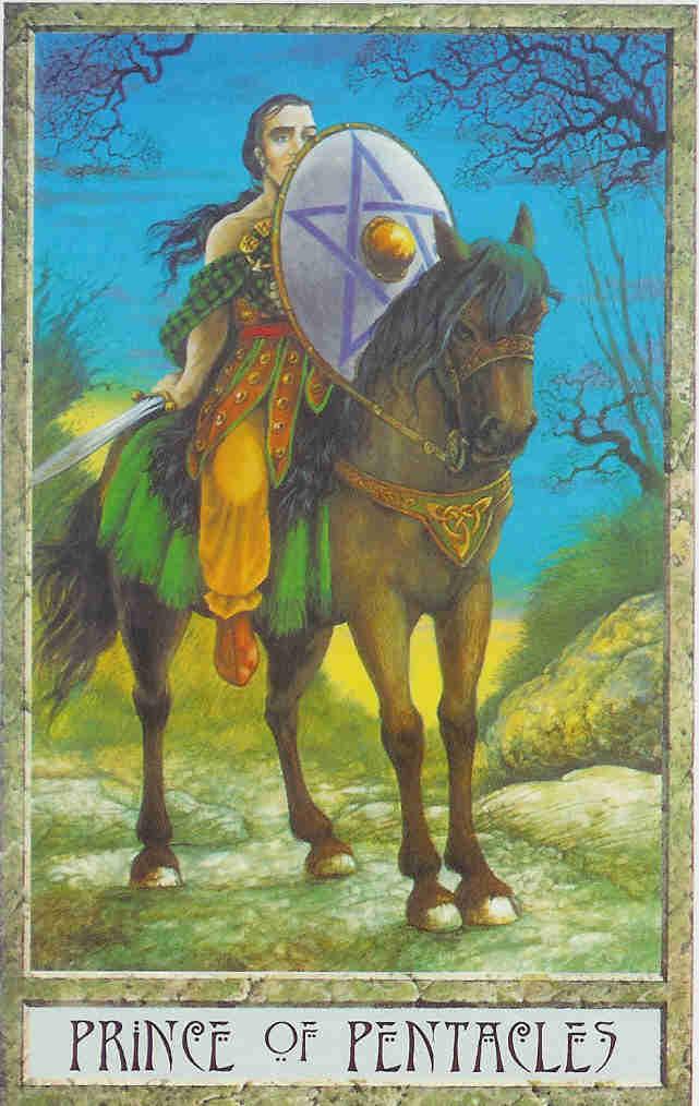 карта таро рыцарь монет