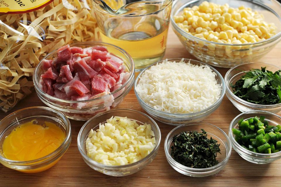 компоненты для блюда