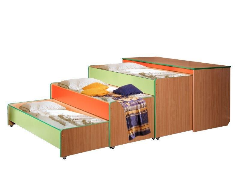Кровать-тумба трехярусная