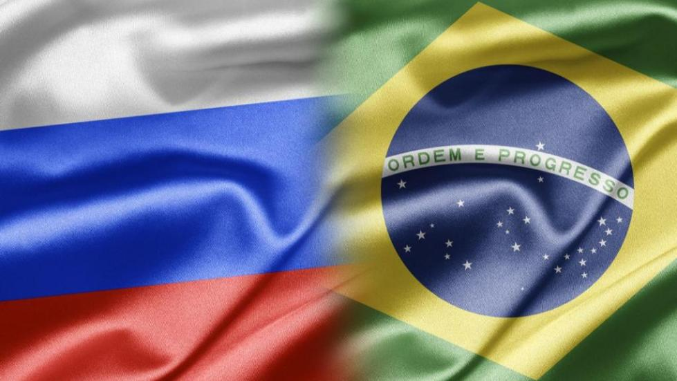 флаги россии и бразилии