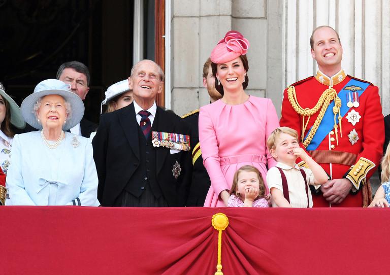 Принц Филипп с семьей