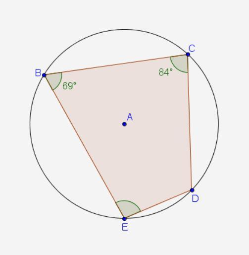 четырехугольник авсд вписан в окружность